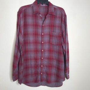 CP SHADES Romy Plaid Double Woven Button Up Shirt